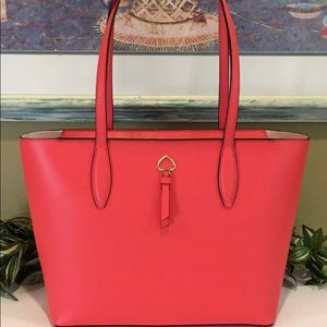 KATE SPADE ADEL SMALL TOTE STOPLIGHT RED